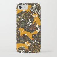 iPhone Cases featuring Fox Tales by Anna Deegan