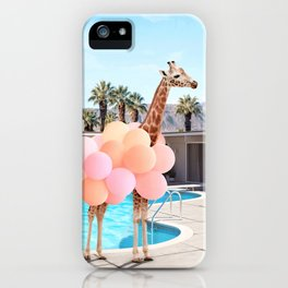 Giraffe Palm Springs iPhone Case