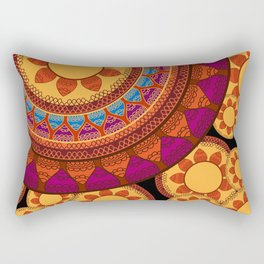 Ethnic Indian Mandala Rectangular Pillow