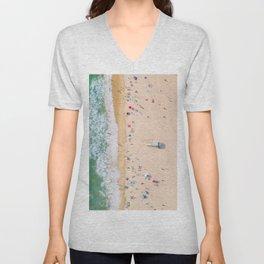 Beach Aerial Unisex V-Neck