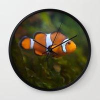 nemo Wall Clocks featuring Found Nemo by SomniumStudios.co.uk