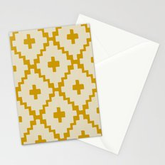 Navajo Diamonds Ivory on Gold Stationery Cards