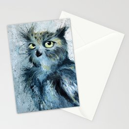 Blue Owl Painting Stationery Cards