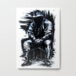 Man hooded boxer fighter Metal Print