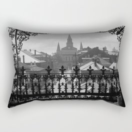 New Orleans 1920s Vintage Photograph from Balcony Rectangular Pillow