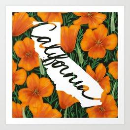California - California poppy Art Print