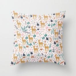 Cute Fawn Throw Pillow