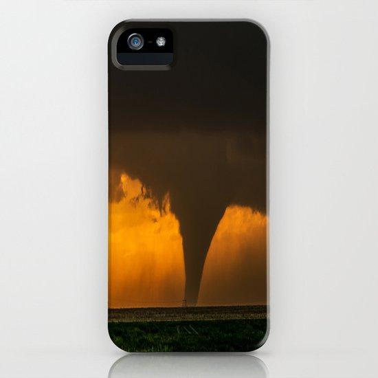 Silhouette - Large Tornado at Sunset in Kansas by seanramsey