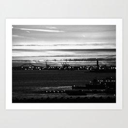 Vague Memories of New York [Black & White] Art Print