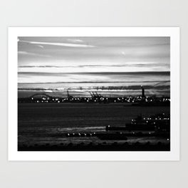 Vague Memories of New York [Black & White] Art Print