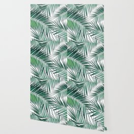 Palm Leaves - Green Cali Vibes #2 #tropical #decor #art #society6 Wallpaper
