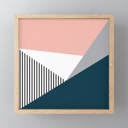 Colorful geometry 2 Framed Mini Art Print