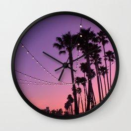 Lit Sunset Wall Clock