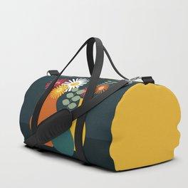 Flower Vases on Dark Background Duffle Bag