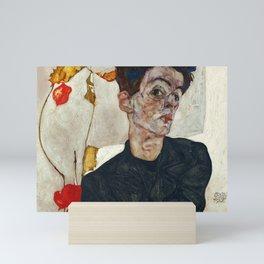 "Egon Schiele ""Self-Portrait with Physalis"" Mini Art Print"