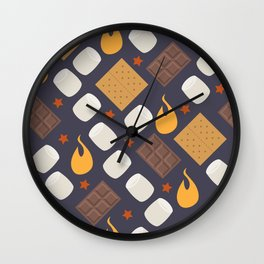 Smores on the Campfire Wall Clock