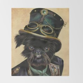 Sir Cornelius Kirby (steampunk) Throw Blanket