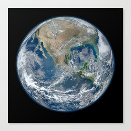 North America from Low Orbit Canvas Print