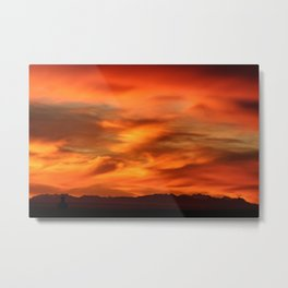 Sunrise - Munich look south Alpes and Lake Tegernsee Valley Metal Print