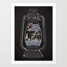 Storm Lantern... Art Print