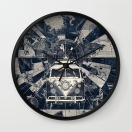 vintage voyager world map Wall Clock