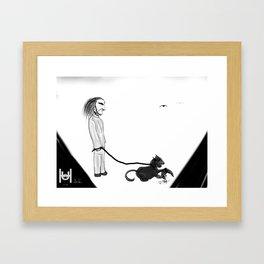 Cat Walker Framed Art Print