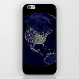 Earth Globe Lights iPhone Skin