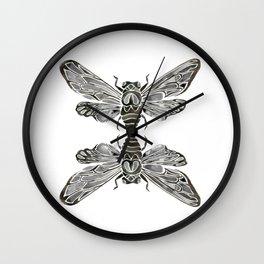 Summer Cicada – Black Palette Wall Clock