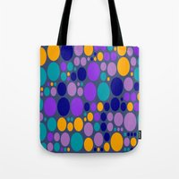 dots Tote Bags featuring Dots by Aloke Design