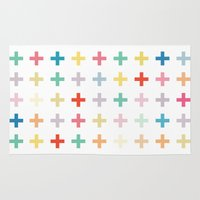 cross Area & Throw Rugs featuring Cross by Manu Design and Co