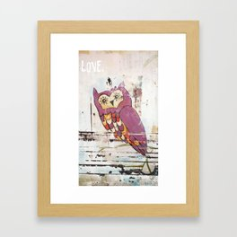 Owl LOVE. Framed Art Print
