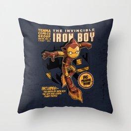 THE INVINCIBLE IRON BOY Throw Pillow