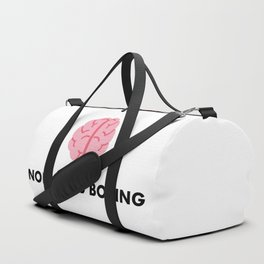 Normal is boring - funny aspie quote Duffle Bag