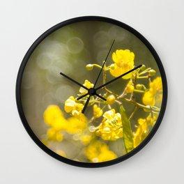 Popcorn Flower Bokeh Delight Wall Clock