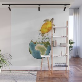 Climate changes the nature Wall Mural