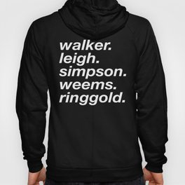 WOC curators and artists (black version) Hoody