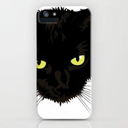 Black Cat Face iPhone Case