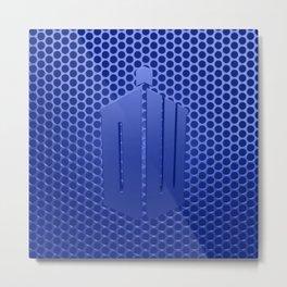 Tardis Logo Metal Print