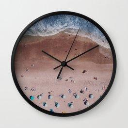 Beach Print, Contemporary Beach, Aerial Beach Wall Clock