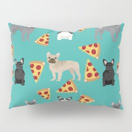 frenchie pizza cute funny dog breed pet pattern french bulldog Pillow Sham