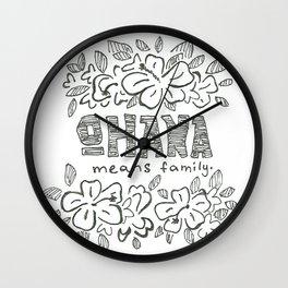 Ohana Wall Clock