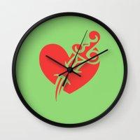 bioshock infinite Wall Clocks featuring Bioshock Infinite Vigors - Possession by GunnerGrump