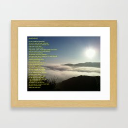 Mountain Poem Framed Art Print