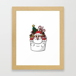 Cute Pocket Santa Framed Art Print