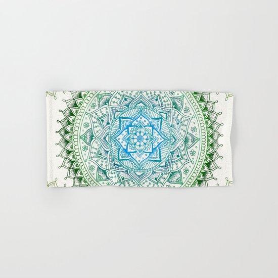 Forest Colours Flower Mandala Hand & Bath Towel