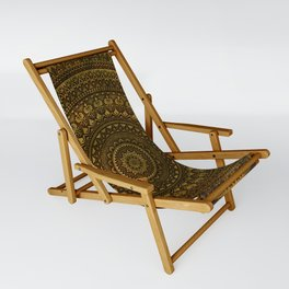 Lime Brown Mandala Sling Chair
