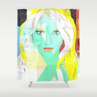 britney Shower Curtains featuring The fuc.... Britney by Alberto Fumora