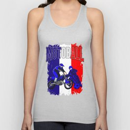 Motoball FranceDirt Bike Gifts For Bikers Unisex Tank Top