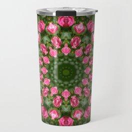 Floral mandala-style, Rose Travel Mug
