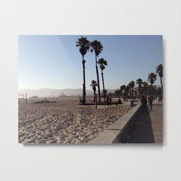 Santa Monica Beach in California Metal Print